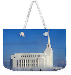 Rexburg Temple Rises Above The Mist Weekender Tote Bag