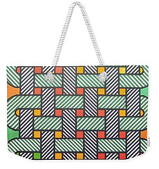 Weekender Tote Bag featuring the drawing Rfb1002 Variation I Diagonal by Robert F Battles