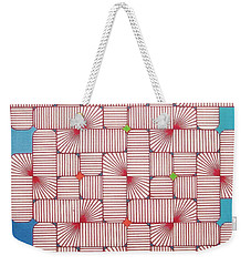 Weekender Tote Bag featuring the drawing Rfb1006 Variation IIi Diagonal by Robert F Battles