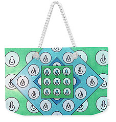 Weekender Tote Bag featuring the drawing Rfb1021 by Robert F Battles