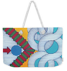 Weekender Tote Bag featuring the drawing Rfb1024 by Robert F Battles