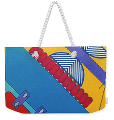 Weekender Tote Bag featuring the drawing Rfb1026 Diagonal by Robert F Battles