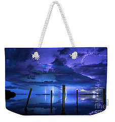 Blue Nights Weekender Tote Bag