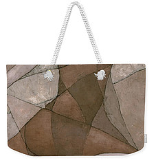 Weekender Tote Bag featuring the painting Rhea by Steve Mitchell
