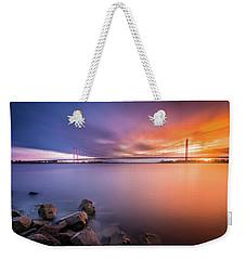 Rhine Bridge Sunset Weekender Tote Bag