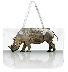 Rhinoceros Weekender Tote Bag by James Larkin