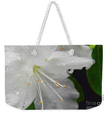 Rhododendron Blossom Weekender Tote Bag