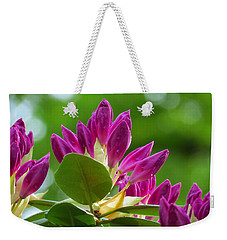 Rhododendron Buds Weekender Tote Bag by MTBobbins Photography