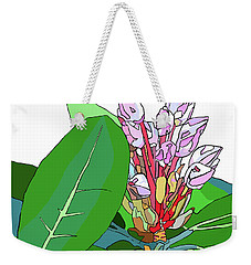 Rhododendron Graphic Weekender Tote Bag by Jamie Downs