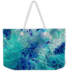 Rhododendron Turquoise Lace Weekender Tote Bag