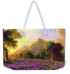 Rhododendrons, Rabbits And Radiant Memories Weekender Tote Bag by Jane Small
