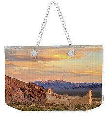 Weekender Tote Bag featuring the photograph Rhyolite Bank At Sunset by James Eddy