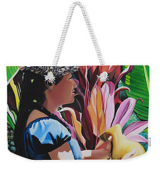 Rhythm Of The Hula Weekender Tote Bag by Marionette Taboniar