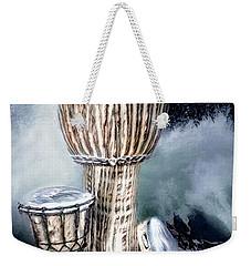 Weekender Tote Bag featuring the digital art Rhythm by Pennie McCracken