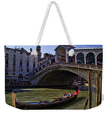 Rialto Bridge In Venice Italy Weekender Tote Bag