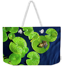 Weekender Tote Bag featuring the photograph Ribbit by Greg Fortier
