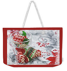 Weekender Tote Bag featuring the photograph Ribbon Candy by Diane Alexander