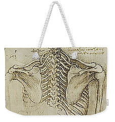 Weekender Tote Bag featuring the painting Ribcage Main by James Christopher Hill
