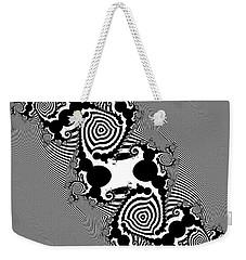 Weekender Tote Bag featuring the digital art Ricatefuge by Andrew Kotlinski