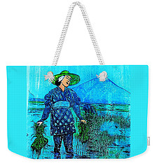 Rice Field Blues Weekender Tote Bag