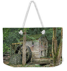 Weekender Tote Bag featuring the photograph Rice Grist Mill 2017 by Douglas Stucky