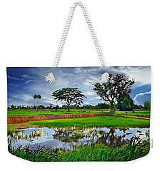 Rice Paddy View Weekender Tote Bag by Ian Gledhill