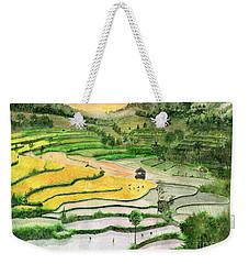 Ricefield Terrace II Weekender Tote Bag by Melly Terpening