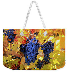 Rich Fall Colors With Grapes Weekender Tote Bag