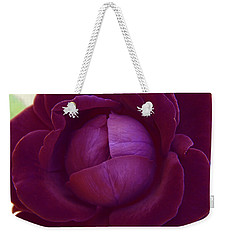 Rich Purple Lettuce Rose Weekender Tote Bag by Samantha Thome