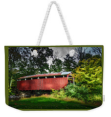 Weekender Tote Bag featuring the photograph Richards Covered Bridge by Marvin Spates