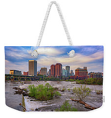 Weekender Tote Bag featuring the photograph Richmond Skyline by Rick Berk
