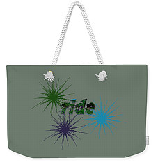 Ride Text And Art Weekender Tote Bag by Mim White