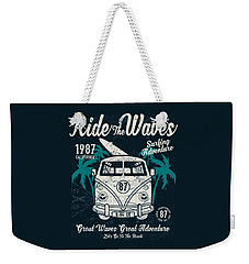 Ride The Waves Weekender Tote Bag