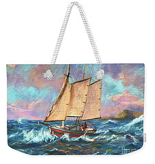 Ride The Wind And Waves Weekender Tote Bag