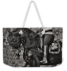 Weekender Tote Bag featuring the photograph Rider And Steed Dance D6032 by Wes and Dotty Weber