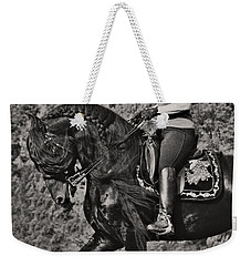 Rider And Steed Dance Weekender Tote Bag by Wes and Dotty Weber
