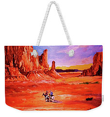 Riders In The Valley Of The Giants Weekender Tote Bag
