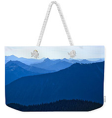 Weekender Tote Bag featuring the photograph Ridges And Layers by Lynn Hopwood