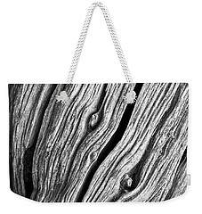 Weekender Tote Bag featuring the photograph Ridges - Bw by Werner Padarin