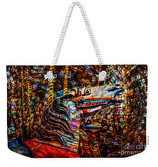 Weekender Tote Bag featuring the photograph Riding A Carousel In My Colorful Dream by Michael Arend