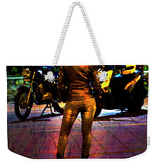 Weekender Tote Bag featuring the photograph Riding Companion II by Al Bourassa