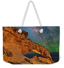 Riding Over The Arch Weekender Tote Bag