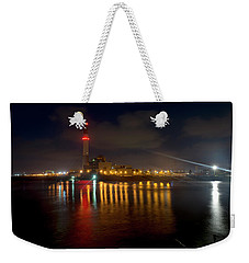 Weekender Tote Bag featuring the photograph Riding Station, Tel Aviv, Water Side by Dubi Roman
