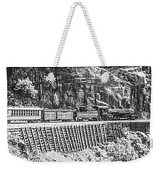Weekender Tote Bag featuring the photograph Riding The Edge by Colleen Coccia