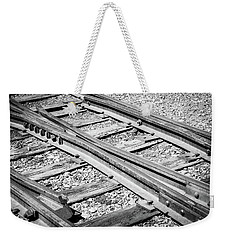 Weekender Tote Bag featuring the photograph Riding The Rail by Colleen Coccia