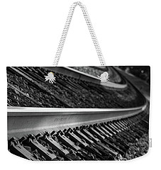 Weekender Tote Bag featuring the photograph Riding The Rail by Doug Camara