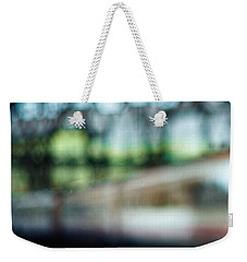 Weekender Tote Bag featuring the photograph Riding The Rails by Allen Beilschmidt