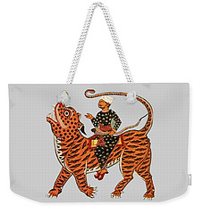 Riding The Tiger Weekender Tote Bag