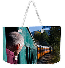 Riding The Train 8x10 Weekender Tote Bag