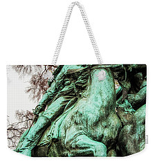 Weekender Tote Bag featuring the photograph Riding Tight by Christopher Holmes